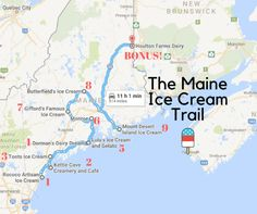 This Mouthwatering Ice Cream Trail In Maine Is All You've Ever Dreamed Of And More