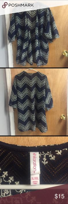 Xhilaration Cardigan Xl New! Never been worn, perfect condition. Does not have tags on it. Color is navy blue Xhilaration Tops Blouses