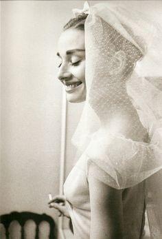 Audrey Hepburn, 1954 #Wedding