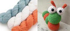 Alastair the Caterpillar by Stacey Trock + Spud & Chloe Sweater on Craftsy #crochet #amigurumi #yarn #deals #sales