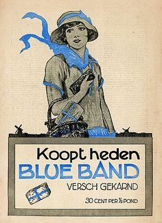 'Koopt heden Blue Band' #Reclame #Advertentie #Affiche #Advertising