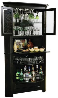 Ridgeville Wine & Bar Cabinet - Open | Home Bar Furnishings ...