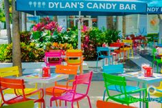 Outdoor Cafe at Dylan's Candy Bar Miami!
