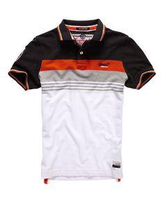 Superdry Retro Chest Stripe Pique Polo Shirt