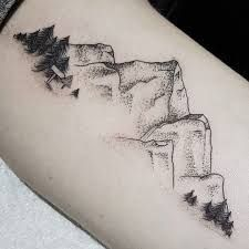 Image result for mountain and sea tattoo foot