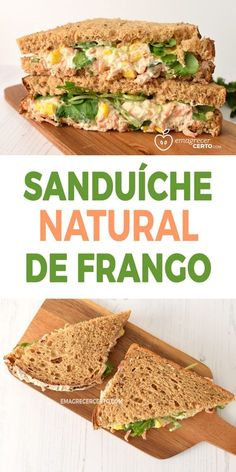 Sanduíche Natural de Frango Blog Emagrecer Certo Healthy Tips, Healthy Recipes, Light Snacks, Summer Snacks, Food Goals, Chapati, Food Inspiration, Quesadilla, Love Food
