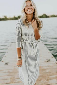 New arrivals at ROOLEE don't last long! Find the perfect Easter Sunday dresses for this upcoming spring season! Modest Dresses, Modest Outfits, Modest Fashion, Stylish Outfits, Dress Outfits, Casual Dresses, Fashion Dresses, Girly Outfits, Beach Outfits
