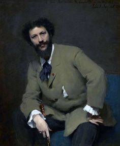 """""""Charles Auguste Émile Carolus-Duran"""" (1879) John Singer Sargent. Sterling and Francine Clark Art Institute, Williamstown, Massachusetts, USA (photo by Michael Agee) Fellow painter and teacher of Sargent."""