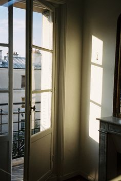 This seems like Paris Life Is Beautiful, Beautiful Homes, Interior And Exterior, Interior Design, Interior Doors, Modern Interior, Balcony Doors, Humble Abode, Light And Shadow