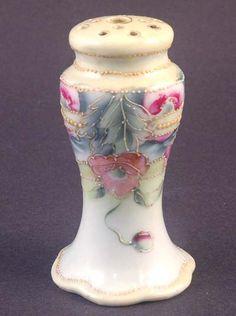 :: Porcelain :: Nippon Hat Pin Holder Green Maple Leaf Mark ...