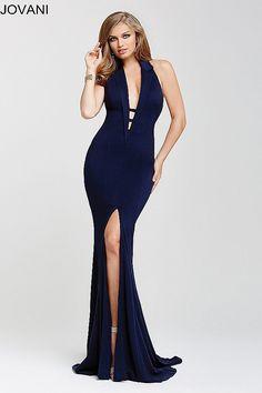 3b4888699 Navy Fitted Sexy High Slit Dress 25052. Vestidos AzulesUñas AzulesVestidos  De GalaCollaresVestido Azul MarinoVestidos ...