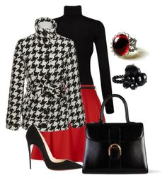 """""""Classy lady"""" by michelle-marchetti ❤ liked on Polyvore featuring Splendid, Christian Louboutin and Delvaux"""