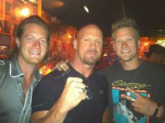 Florida Georgia Line and Stone Cold Steve Austin! 3 of my favorite men:)