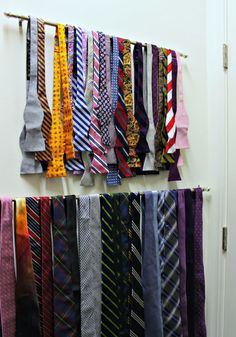 Tie and bowtie organization- closet organization for men - Our Fifth House