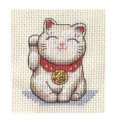 LUCKY-JAPANESE-CAT-Full-counted-cross-stitch-kit-MANEKI-NEKO