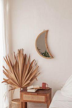 Home Decor Accessories, Rattan Mirror, Bedroom Decor, Home Decor, House Interior, Earthy Home, Home Interior Accessories, Room Decor, Apartment Decor