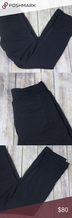 """Lululemon Great Wall Lined Pants Joggers Cinched Lululemon Men's Jogger Pants.  Size Medium.  Appears to be Great Wall Lined Pants, but am not 100% certain.  Black with light striping.  Two pockets at back and two hand pockets.  One zippered pocket on leg.  Internal elastic on ankles to cinch.  Super soft lining.  Body is 94% nylon, 6% elastane.  Machine wash.  In good, preowned condition with no flaws noted.  No trades, offers welcome.  Measures approximately 15"""" at waist, 10"""" rise, 33""""…"""