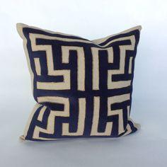Pillow - Doric - INDIGO/GOLD