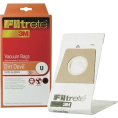 Electrolux Home Care Dirt Devil U Vacuum Bag 65703A-6 Unit: Each, White platinum