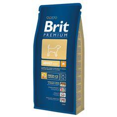 Полнорационный корм для взрослых собак средних пород (10–25 кг).  https://zoo-opt.com/p502498329-brit-premium-adult.html СОДЕРЖАНИЕ: мука из мяса курицы (40 %), кукуруза, пшеница, рис, куриный жир (консервированный токоферолами), масло лосося, пивные дрожжи, натуральные ароматизаторы, сушеные яблоки, минеральные вещества, экстракт из трав и фруктов (300 мг/кг), мананоолигосахариды (150 мг/кг), фруктоолигосахариды (100 мг/кг), экстракт юкки шидигеры (80 мг/кг), органическая Е4 медь…