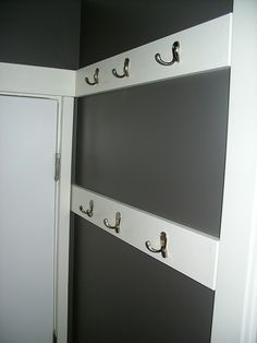 I love this idea, great for using up unusable space behind doors! Possibly for accessories