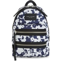Marc Jacobs Blumon Biker canvas mini backpack ($205) ❤ liked on Polyvore featuring bags, backpacks, bike backpack, marc jacobs backpack, mini rucksack, canvas backpack and canvas knapsack