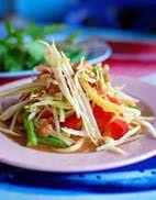 Beautiful Thai Green Papaya Salad (Som Tam) - one of the world's favorite salads!