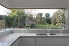 Kitchen Corner Window 60 Ideas For 2019 Vinyl Wallpaper, Glass Kitchen, Kitchen Decor, Kitchen Ideas, Kitchen Plants, Kitchen Inspiration, Kitchen Interior, Feng Shui, Kitchen Splashback Tiles