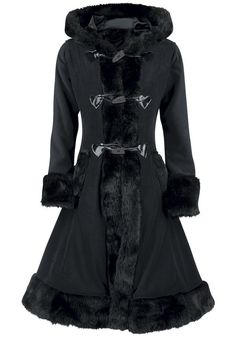 Stylish Black Hooded Gothic Coat
