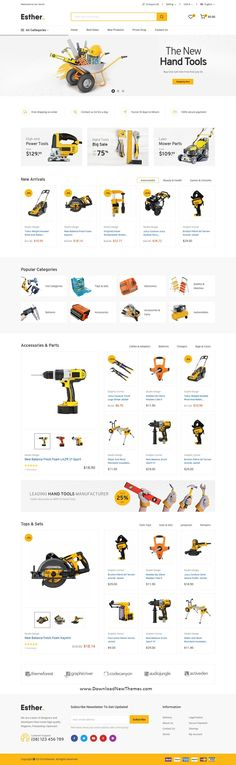 Esther is a clean, elegant and modern design responsive premium Prestashop theme for selling tools, equipment and accessories online store beautiful eCommerce website with 4 niche homepage layouts. It comes with lot of useful functions to download now & live preview click on image 👆 webdev uiux websitetemplates websitelayouts eCommercetheme eCommercewebsitedesign eCommercewebsitelayout prestashopwebsite