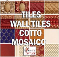 TILES - WALL TILES - COTTO - MOSAICO SEAMLESS TEXTURE COLLECTION http://www.sketchuptexture.com/p/texture-tiles.html