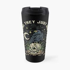 """""""Already dead"""" Travel Mug by ninthstreet   Redbubble Travel Mug, Darkness, Kids Outfits, Cool Designs, Pouch, Tapestry, Mugs, Awesome, Prints"""