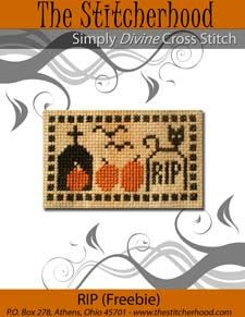 The Stitcherhood: Free Halloween Cross Stitch Design