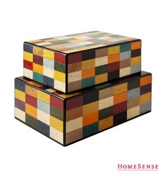 2 very colourful boxes Storage Boxes, Storage Ideas, Homesense, Decorating Ideas, Decor Ideas, Bead Weaving, Favorite Holiday, Decoration, Storage Solutions