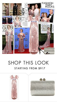"""2017 Golden Globe Awards~ Claire Foy"" by snugget9530 ❤ liked on Polyvore featuring Oris, Jimmy Choo and Nicholas Kirkwood"