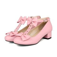 Special price Woman Pumps Sweet Lolita T-strap Pumps Square Block Low Heels Bowknot Spring Summer Autumn Sexy Pink Casual Party Ladies Shoes just only $22.99 - 24.64 with free shipping worldwide  #womenshoes Plese click on picture to see our special price for you