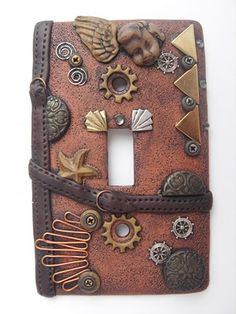 steam punk switchplate My daughter makes stuff like this, but not switchplates, yet.