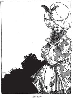 'Bluebeard' illustration by W. Heath Robinson featured in this book: Old-Time Stories Told By Master Charles Perrault - Illustrated by W. Heath Robinson available on http://www.amazon.co.uk/Old-Time-Stories-Master-Charles-Perrault-ebook/dp/B00CIX2P5K/ref=sr_1_1?ie=UTF8&qid=1436532691&sr=8-1&keywords=Old+Time+Stories+Told+By+Master+Charles+Perrault