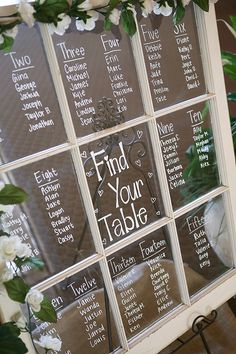 Seating arrangement on an up-cycled window pane
