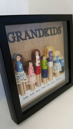 Personalized grandkids shadow box