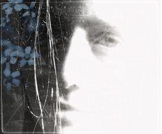 Flowers In Her Hair/  faded portrait art by dcandrews