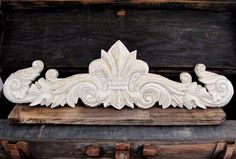 Large Fleur De Lis Wall Decoration Antique White