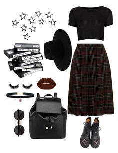 """tired af"" by nevermind90 ❤ liked on Polyvore featuring Dorothy Perkins, Topshop, Barneys New York, rag & bone, Chicnova Fashion, Lime Crime, outfit, black, grunge and 90s"