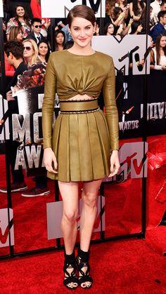 MTV Movie Awards 2014 Red Carpet - Shailene Woodley from #InStyle