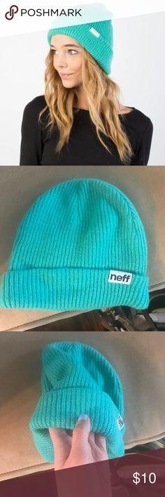 NEW Neff Beanie Brand new never worn. NWOT Neff brand beanie winter hat in aqua / turquoise / light blue. Very soft, cool comfortable. Hippie boho California beach vibes Neff Accessories Hats