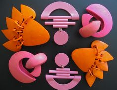Earrings from the 80s. I had a pair of huge pink daisies that got a lot of wear.