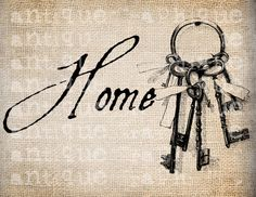 Antique Keys Key Ribbons Ring Skeleton HOME door AntiqueGraphique Foto Transfer, Transfer Paper, Shabby, Etiquette Vintage, Antique Keys, Paper Background, Vintage Prints, French Antiques, My Images