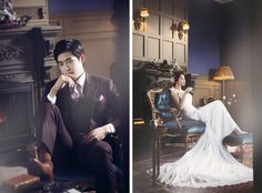 Korean Studio Pre-Wedding Photography: 2016 Romantic Vintage Collection  by Bong Studio on OneThreeOneFour 1