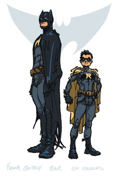 Batman & Robin original designs, by Frank Quitely