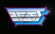 beast 80's typography blue | Flickr - Photo Sharing!